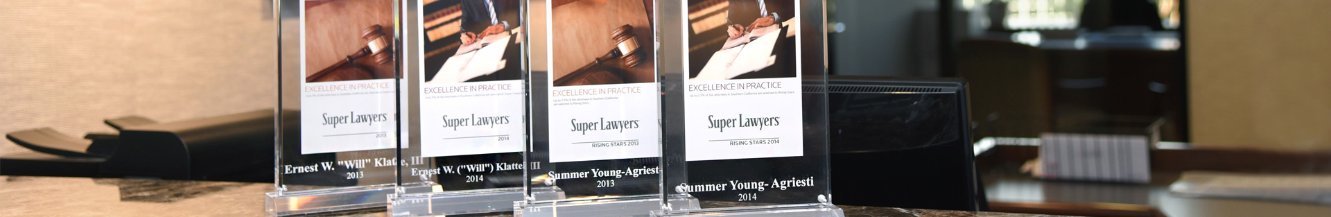 KBY Super Lawyer plaques